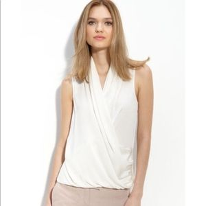 Theory derona Silk sleeveless blouse